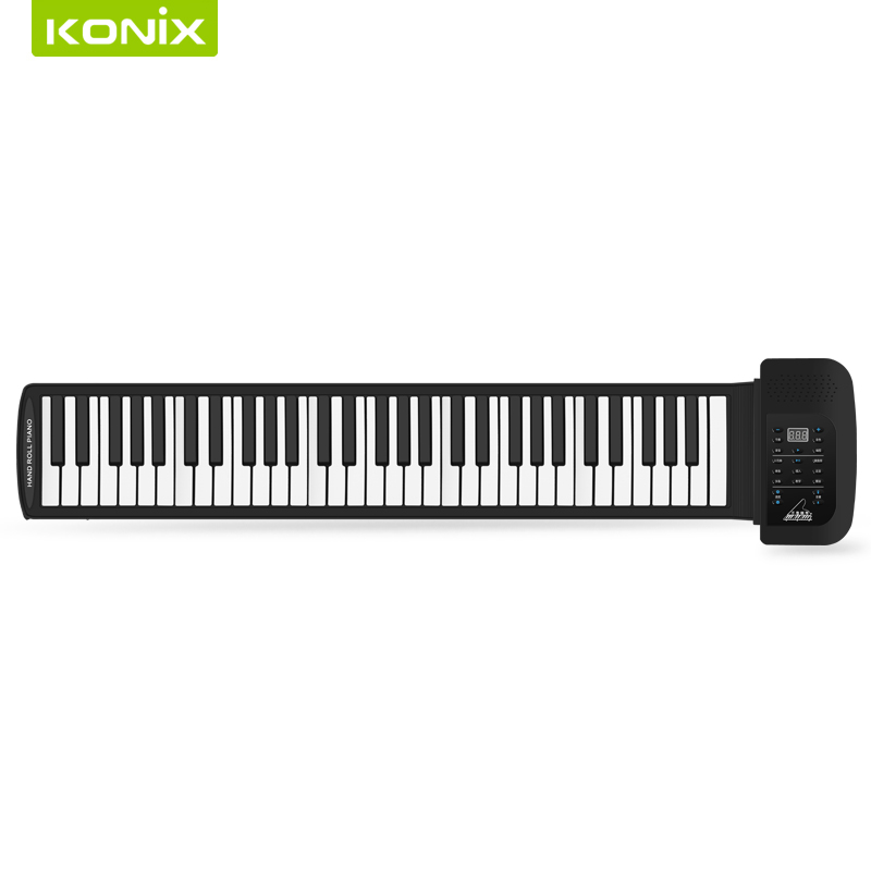 61 Keys 128 Synthesized Tones 100 Preset Rhythms Superior Roll Up electrical Piano with Soft Keys for kids education