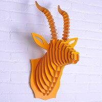 Nodic рогатый для украшения стены, декоративные предметы, элементы новизны, деревянные стены искусства, ремесел украшения дома, животные укра