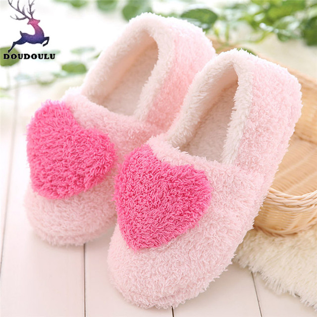 Lovely Ladies Home Floor Soft Women Indoor Slippers Outsole Cotton-Padded Shoes Woman Winter Women Slippers zapatos mujer