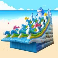 Commercial inflatable shark slide giant water slide for kids