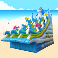 Commercial inflatable shark slide giant water slide for kids
