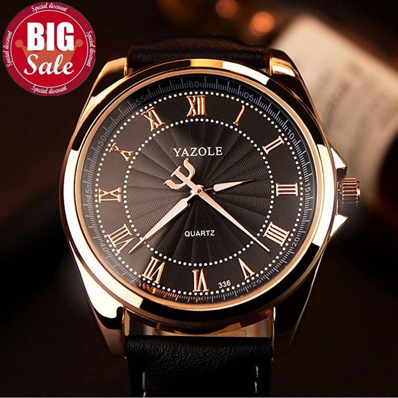 YAZOLE Mode Uhr männer Top-marke Luxus Casual Male Uhr Quarz-uhr Business Rose Gold Schwarz Reloj Hombre Relogio Masculino