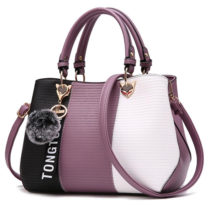 Kvinnor Top Handtag Messenger Bag Patchwork Fashion PU Läder - Handväskor - Foto 4