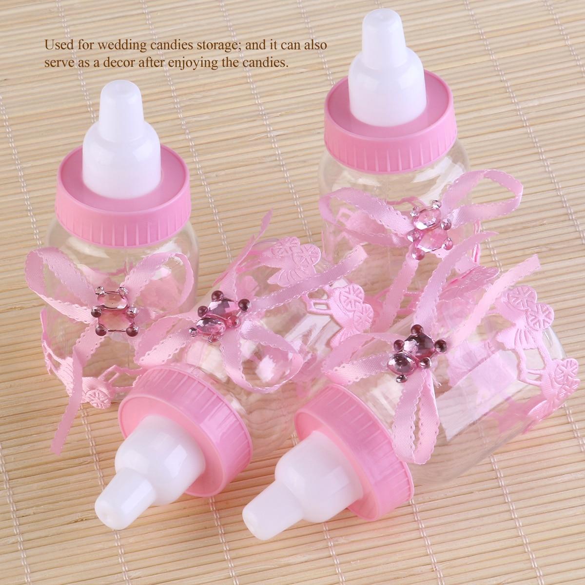 12pcs Feeding Milk Bottle Style Candy Bottle Gift Box Baby Shower