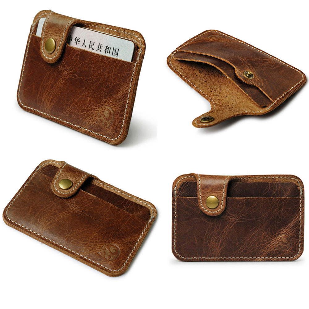 Fashion Money Clip Slim Credit Card ID Holder Wallet Money Cash Holder Artificial Leather Material Package