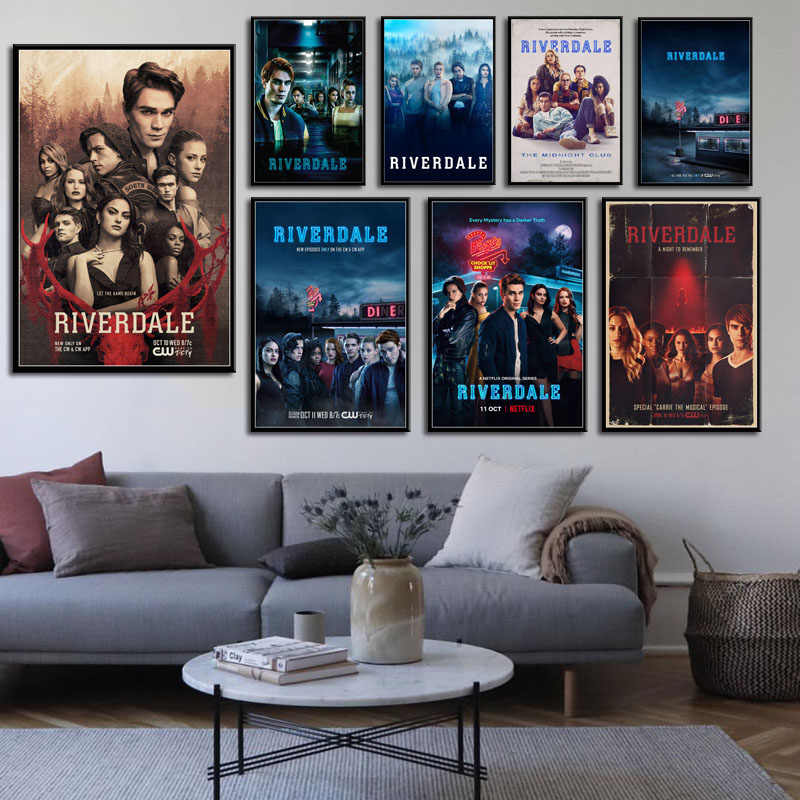 P322 Riverdale Hot TV Series Show Art Painting Silk Canvas Poster Wall Home Decor