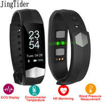 JingTider CD01 Smart Band ECG Heart rate Blood pressure monitor Sport Smart wristband Fitness Tracker Bracelet For IOS Android