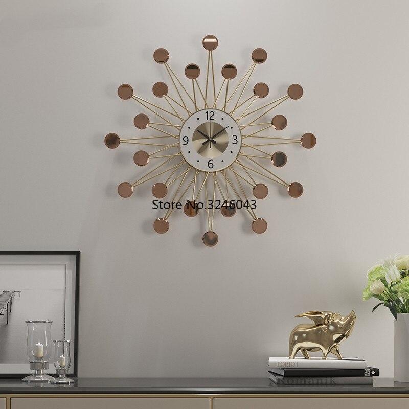 Horloges nordiques horloge de salon mode créative moderne minimaliste personnalité art maison cartes murales horloge à quartz horloge murale