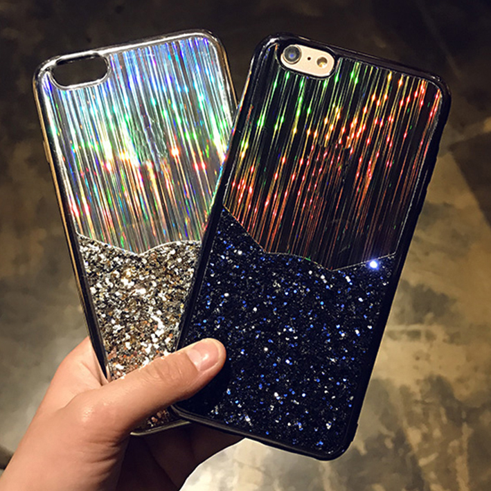 Kerzzil Shining Plating Laser Sequins Colorful Soft Case