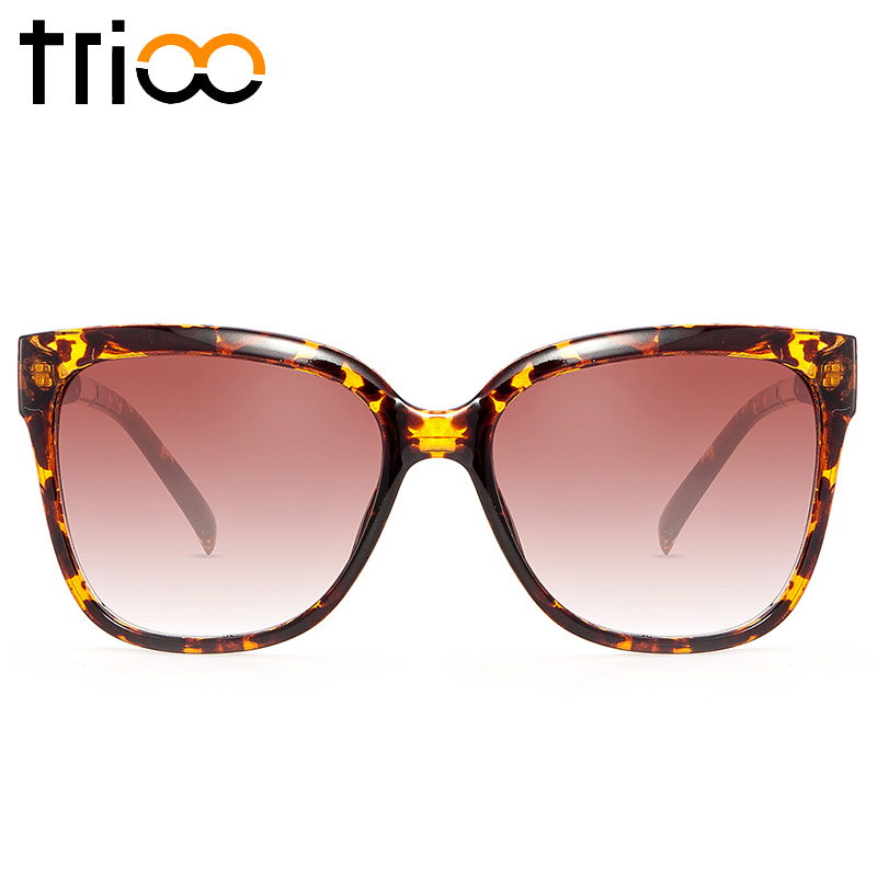 329a72034c0 TRIOO Amber Color Square Frame Sunglasses Men Gradient Brown Lens UV400 Sun  Glasses Unisex 2017 Accessories Shades Oculos Male