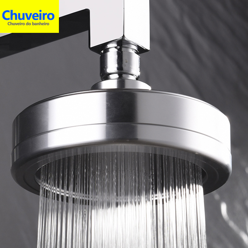 chuveiro Space High Pressure Rain Shower Head with Filter for Hard
