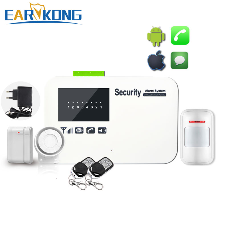 English Russian Spanish French Portuguese Wireless wired Home Security GSM Alarm System with Relay IOS Android APP Sensor Alarm mesbang touch screen gsm security alarm system app with english russian spanish german french free shipping