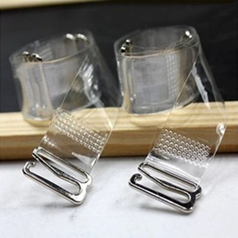 3 Pairs /6pcs Summer Invisible Transparent Bra Straps Silicone Adjustable Strapless Belt Women's Elastic Bra Straps
