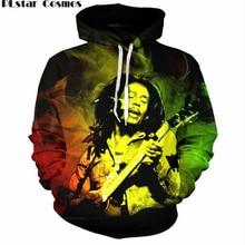PLstar Cosmos Reggae Star Bob Marley 3D Print Thin Hooded Hoodies Pockets Sweatshirt Hipster Hip Hop Casual Men/Women Streetwear
