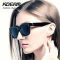 KDEAM Must-Have Tons Óculos De Sol Dos Homens Do Esporte Preto Quadrado Plana Óculos de Sol Das Mulheres Revestimento de óculos de Sol de Luxo Com Caso KD506