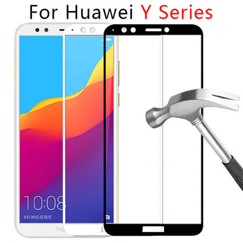 Case On For Huawei Y3 Y5 Y6 Y7 Prime Y9 2018 2017 2019 Full Cover Tempered Glass Phone Y 3 5 6 7 9 Tremp Safety Y62018 Y52018 9h image