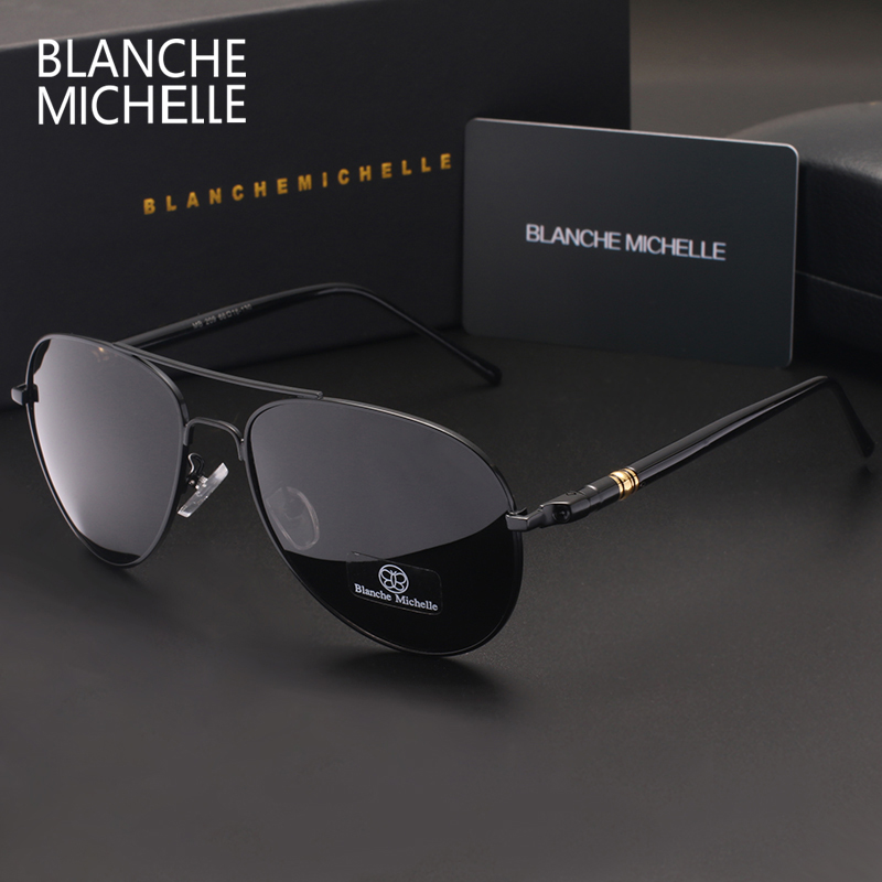 Image 2 - Blanche Michelle 2019 High Quality Polarized Sunglasses Men Brand Designer Sun Glasses Driving UV400 Vintage oculos With Box-in Men's Sunglasses from Apparel Accessories on AliExpress