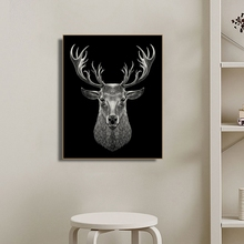 Elk Animals Photography Wall Art Canvas Painting Calligraphy Poster and Print Decorative Picture for Living Room Home Decor