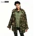 Camouflage Hooded Denim Jasje Vrouwen Met Lange Mouwen Jeans Jas Vrouwelijke Jassen en Jassen Vrouwen Windjack Losse Tops Bovenkleding