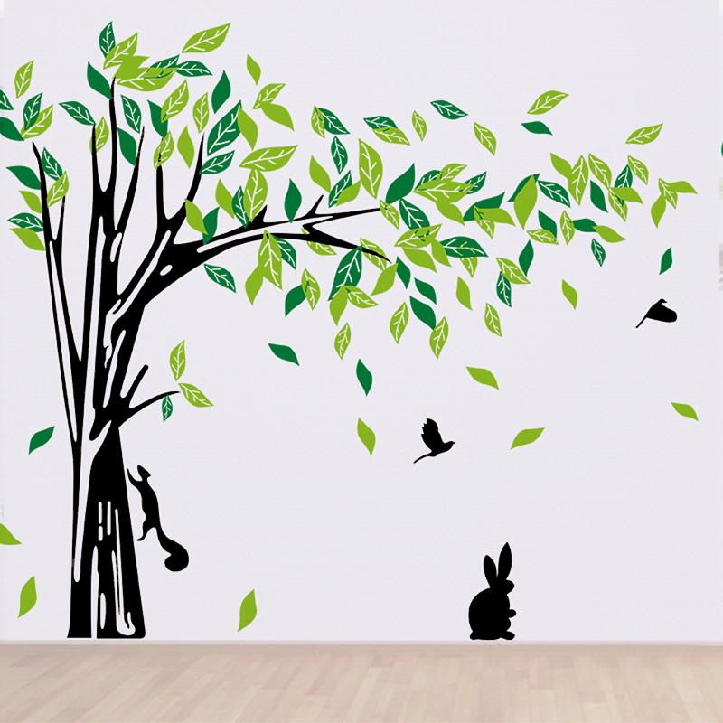 Large Tree Wall Sticker Living Room Wall Removable Art Decals Home Decor  DIY Poster Stickers Decorativos Para Paredes In Wall Stickers From Home U0026  Garden On ...