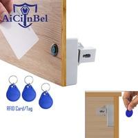 IC Card Sensor Digital RFID Drawer Card Lock DIY Electronic Cabinet Lock, Battery RFID Card Invisible Hidden Drawer Locker Lock