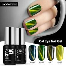 Modelones новые зеленый цвет серии Cat Средства ухода для век Гель-лак Soak Off UV LED Гели для ногтей Польский DIY Дизайн ногтей mangnetic Гели для ногтей лак
