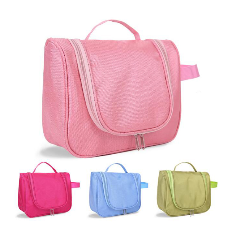 Custom Durable Polyester Cosmetic Pouch Promotional Travel Wash Bags