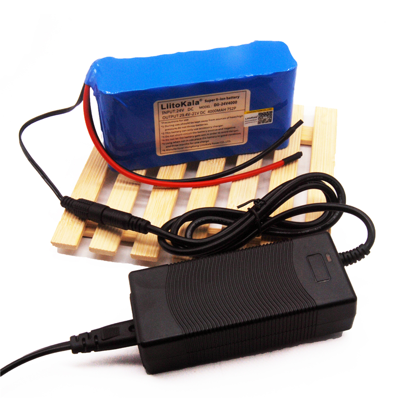 Liitokala 24 В 4Ah 6ah 8ah 10ah 12ah аккумулятор 15A BMS 250 Вт 29.4 В 10000 мАч аккумулятор для коляске двигателя электроэнергии