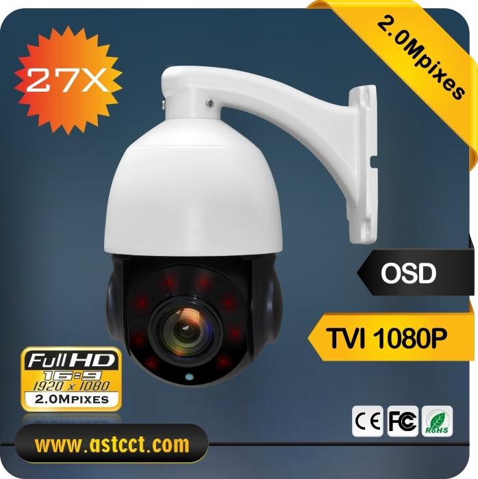 360 Degree Rotation 1080P TVI Output PTZ Camera 27X MINI IR PTZ Camera Sony CMOS Mini high Speed Dome Camera with IR 120M 4 in 1 ir high speed dome camera ahd tvi cvi cvbs 1080p output ir night vision 120m ptz dome camera