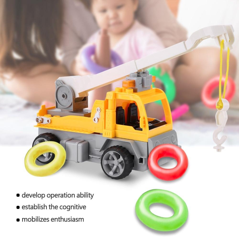 1:18 2.4 Ghz 4ch Bouwstenen Speelgoed Afstandsbediening Kraan Met Verlichting Diy Assemblage Auto Voertuig Kit Voor Kids Rc Speelgoed Auto