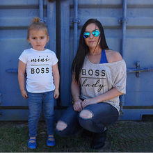 Women Men mum dad boy girl adult infant children Toddler Baby Girls Family Matching Outfits Romper T-shirt boss Outfits clothes