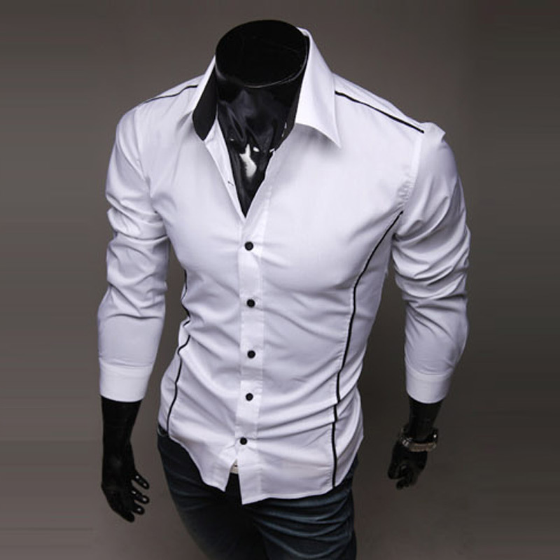прямая доставка лидер продаж прошел для мужчин рубашка мужская одежда рубашка с длинным рукавом отложной стоит тонкий подходят рубашки для мальчиков мужской размеры м-XXXL осенняя