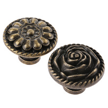 1Pc Antique Metal Round Drawer Knob Vintage Bronze Handle Cabinet Drawer Door Cupboard Pull Knob for Kitchen Bathroom Home стоимость