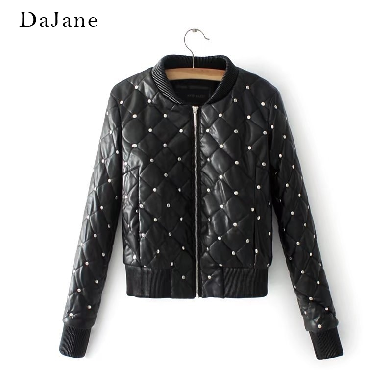 Women's Autumn Winter New Thick Quilted   Leather   Jacket Jacket Short   Leather   Jacket Women