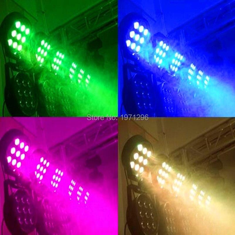 ФОТО 20pcs/lot Free&Fast shipping Wireless remote control led Luxury DMX 7 Channels Led Flat Par Light 9x12W RGBW 4IN1 led lamp