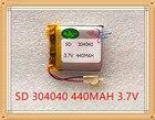 Liter degree energy M6 battery MP4 MP5 GPS DVD small speaker 304040 3.7V 440MAH polymer lithium battery