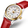 Karneval Frauen Uhren Luxus Marke damen Automatische Mechanische Uhr Frauen Sapphire Wasserdicht relogio feminino C 8830 10-in Damenuhren aus Uhren bei