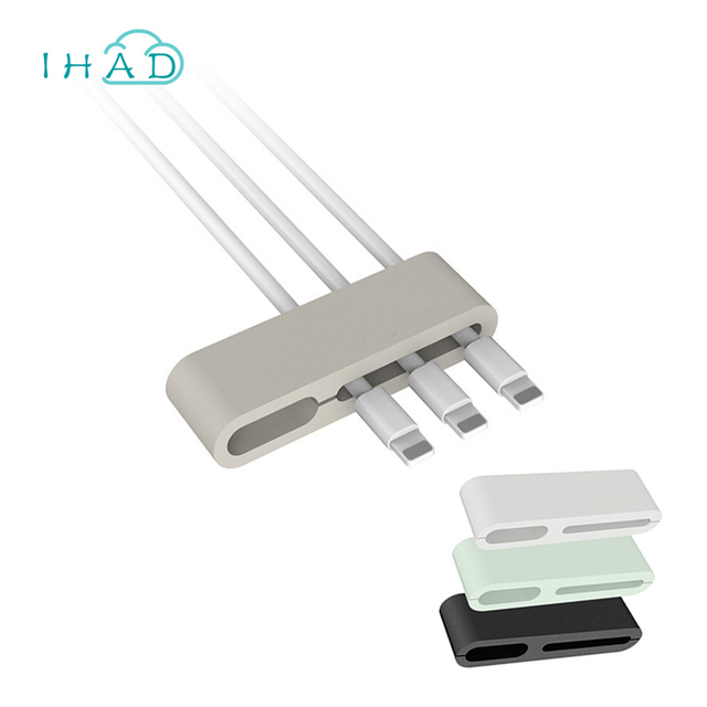 Rubber Charging wire rack USB wire Fixed clamp office Electric wire ...