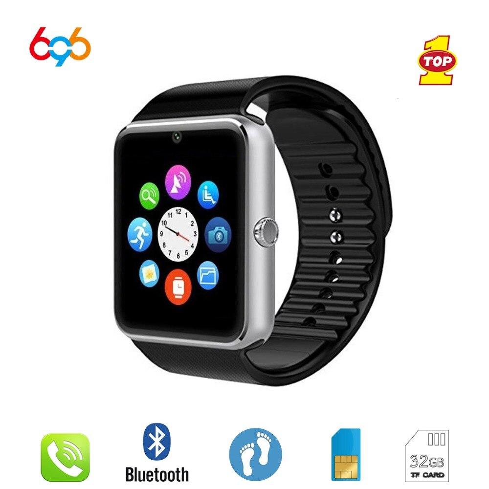 696 Smart Watch GT08 Clock Sync Notifier Support Sim TF Card Bluetooth Connectiv
