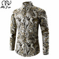 MR.JIM Luxury Brand Shirts for Men 2017 Fashion Printed Slim Long Sleeve Shirts for Boys Chemise Homme Casual Camisas Hombre