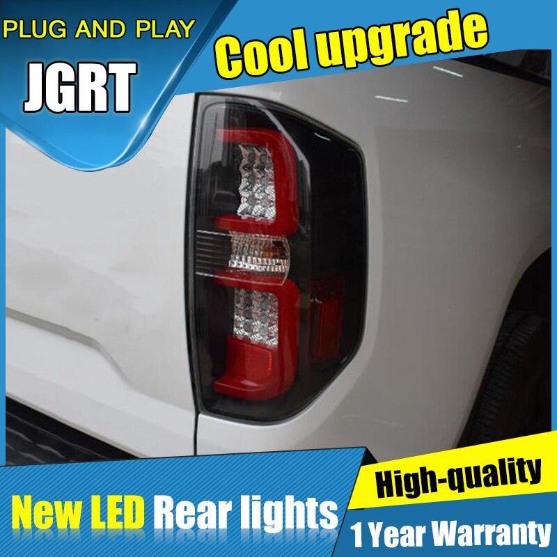 Styling Acessórios do carro para Toyota Tundra Luzes traseiras led Lanterna Traseira 2014-2018 para Tundra Lâmpada DRL + Freio Traseiro + parque + luzes de Sinalização