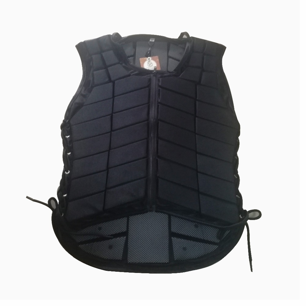 Adult Black Safety Equestrian Horse Riding Vest Protective Body Protector JACKET Horse Racing Equipment Paardensport Cheval F safety equestrian horse riding vest protective body protector navy adult s breathable vest waistcoat camping hiking accessory