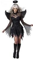 Hot Popular Fallen Angel Costume Sexy Adult Angel Costume Black Sexy Angel Costumes Halloween Devil Costume