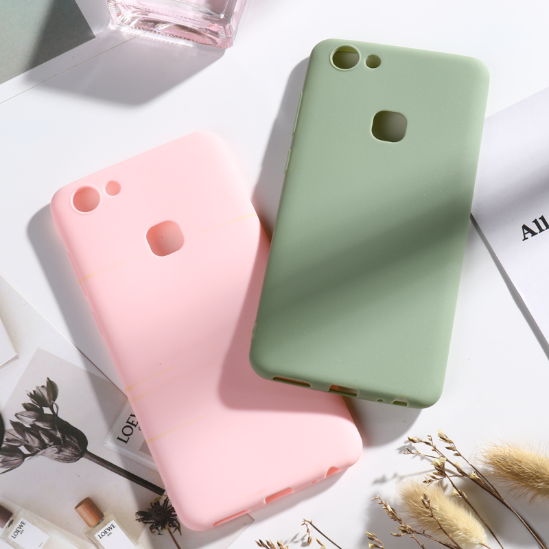 Matte Candy Case for Vivo X7 X20 Plus X27 Pro X23 X21 Cases for Vivo V9 Y85 Y89 V7 Y75 V15 Pro V11i Y97 V11 Bumper Funda Capa in Fitted Cases from Cellphones Telecommunications
