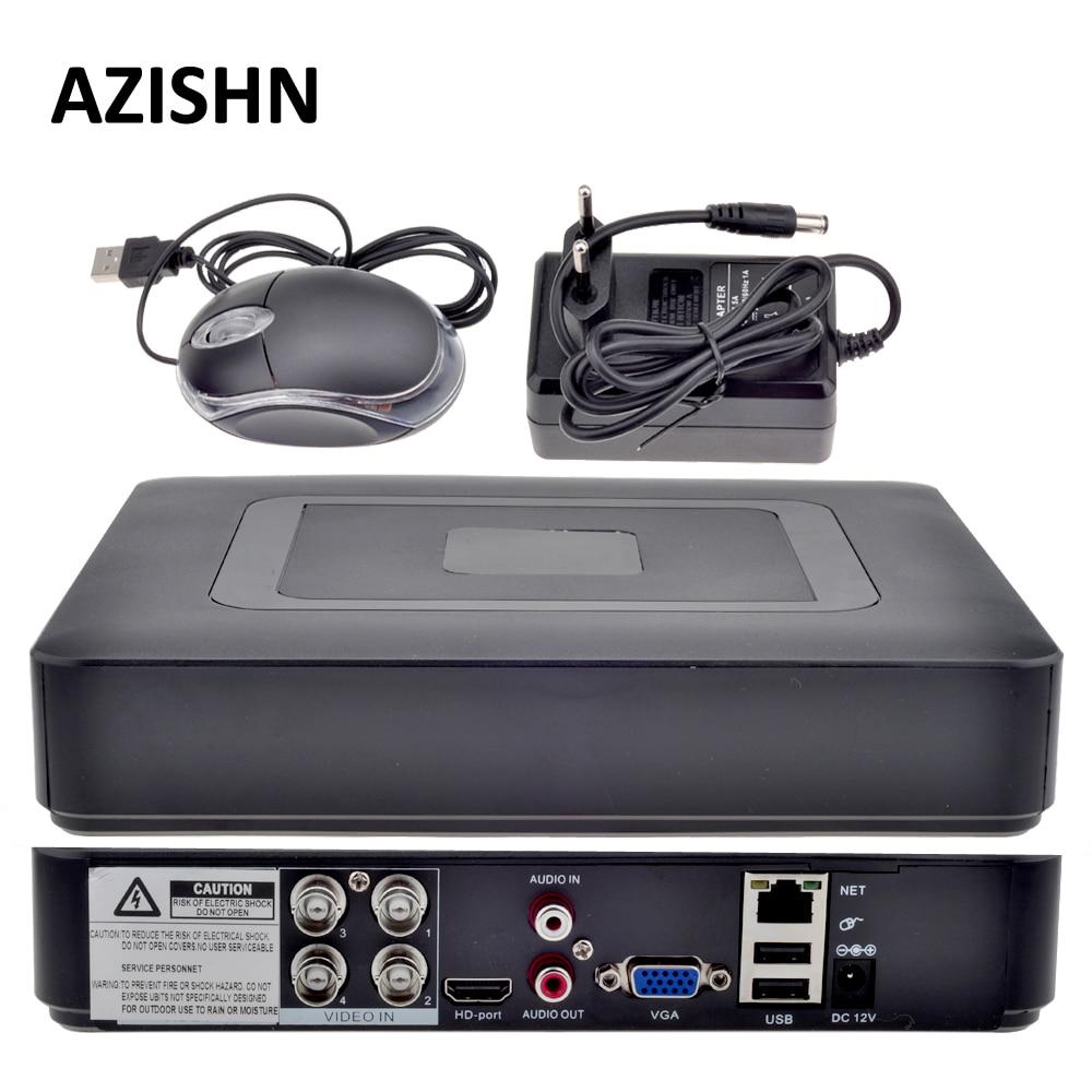 AZISHN 4CH AHD DVR AHDNH 1080N DVR Surveillance 5 IN 1 AHDM TVI CVI CVBS 960H Mini Hybrid Security CCTV DVR HDMI DVR NVR