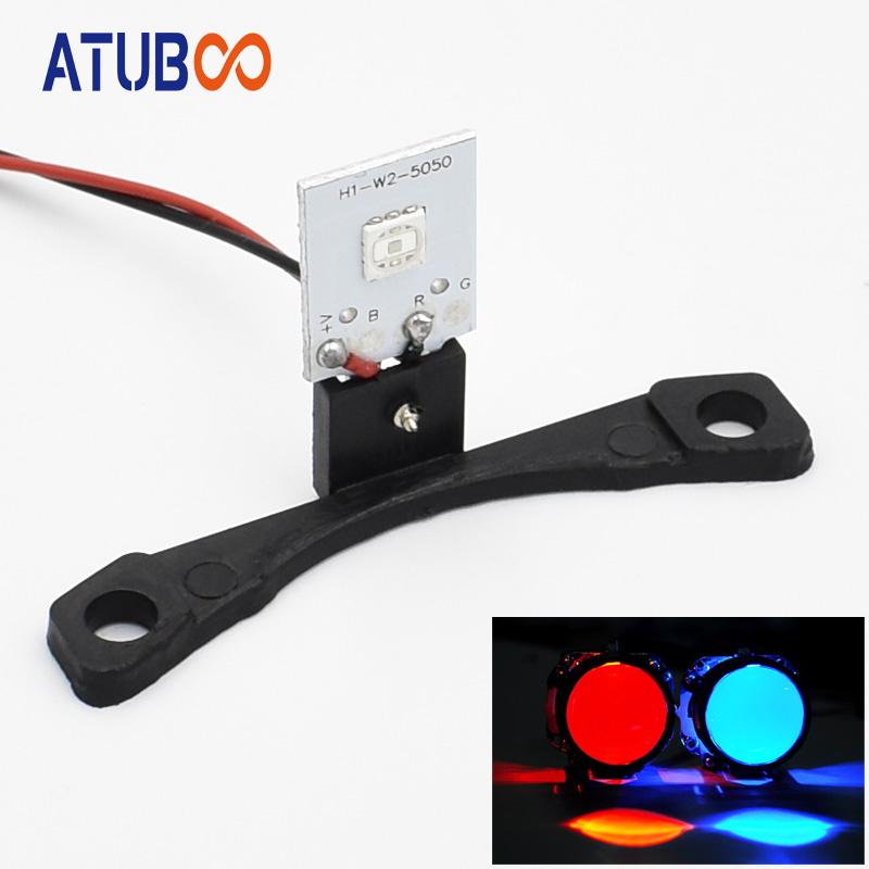 High Quality 12V Led Devil Eye For All Car Hid Projector Lens Headlight Red Blue Demon Eye Kit