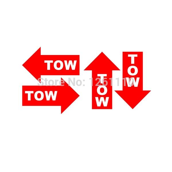 4 x Tow Hook Car Trunk Decal Sticker 15cm 6/'/'