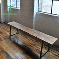 LOFT American country style restoring ancient ways solid wood furniture, wrought iron eat desk and chair, a pew chair Sitting st