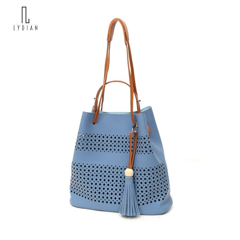 LYDIAN Hollow Designer hole Leather Handbags High Quality Woman Crossbody Bag Su