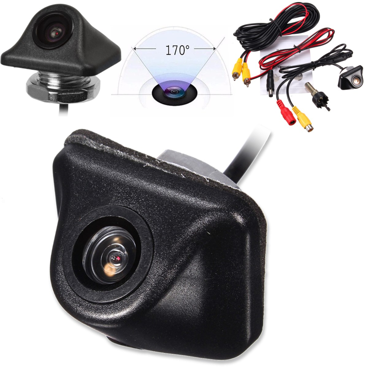 Universal HD CCD Car Rearview Camera Back Up 170 Degree Backup Parking Reverse Camera For Monitor GPS Rear View CameraUniversal HD CCD Car Rearview Camera Back Up 170 Degree Backup Parking Reverse Camera For Monitor GPS Rear View Camera